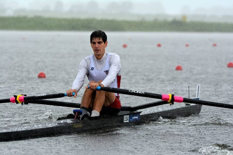 Walter Banfield '17 competed in the men's lightweight single sculls at the U-23 Worlds.