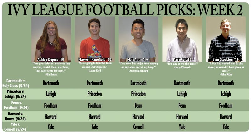 Ivy League Football Picks: Week 2