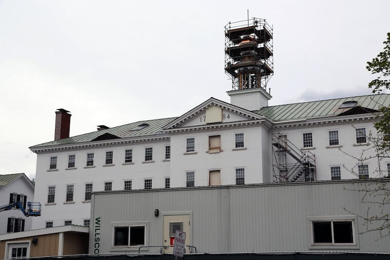 """Dartmouth Hall will not be """"photogenic"""" in time for the Class of 2021's June graduation."""