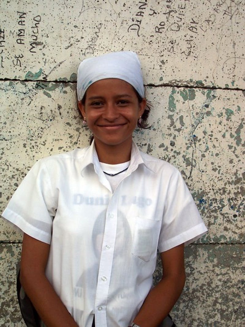 Karen Castaneda, the Nicaraguan student whose college career is being financed by a volunteer group at Dartmouth.
