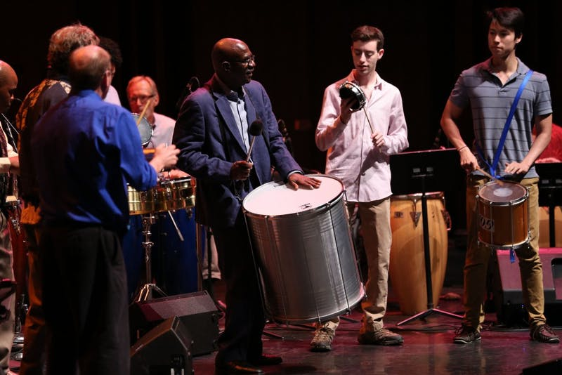 World Music Percussion Ensemble performance in Hanover, New Hampshire on Wednesday, May 24, 2017. Copyright 2017 Robert C Strong II
