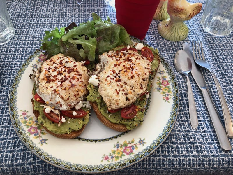 The avocado toast proved to be a vegetarian-friendly treat.