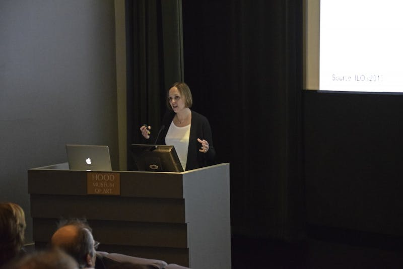 Economics professor Nina Pavcnik gave a lecture on international trade in developing economies.