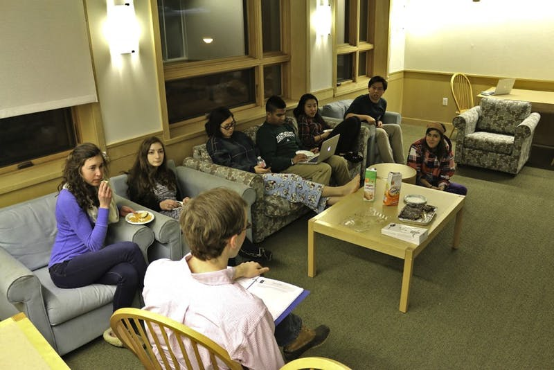 Undergraduate advisers, who act as both peers and mentors, hold regular floor meetings to help foster a sense of community among floormates.