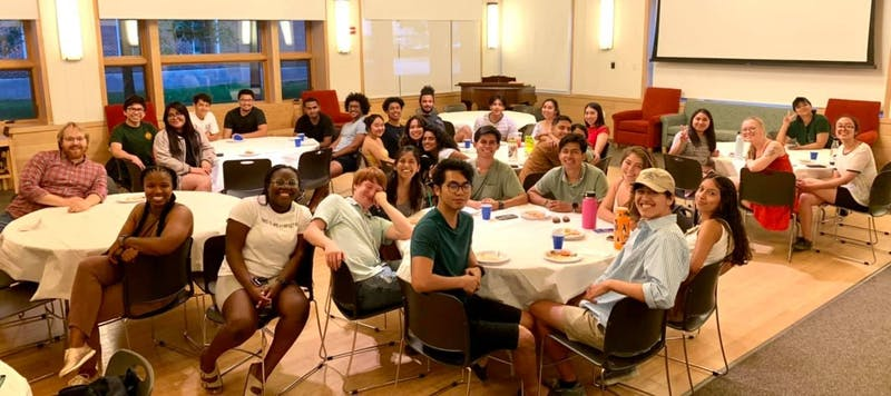 Students gathered for an FGLI community dinner in Occom Commons earlier this week.