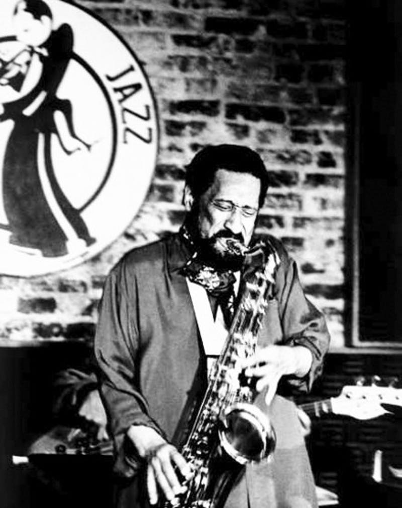 Iconic jazz legend Sonny Rollins, seen here playing at Washington D.C.'s Blues Alley, will perform at the Hopkins Center on Sunday.