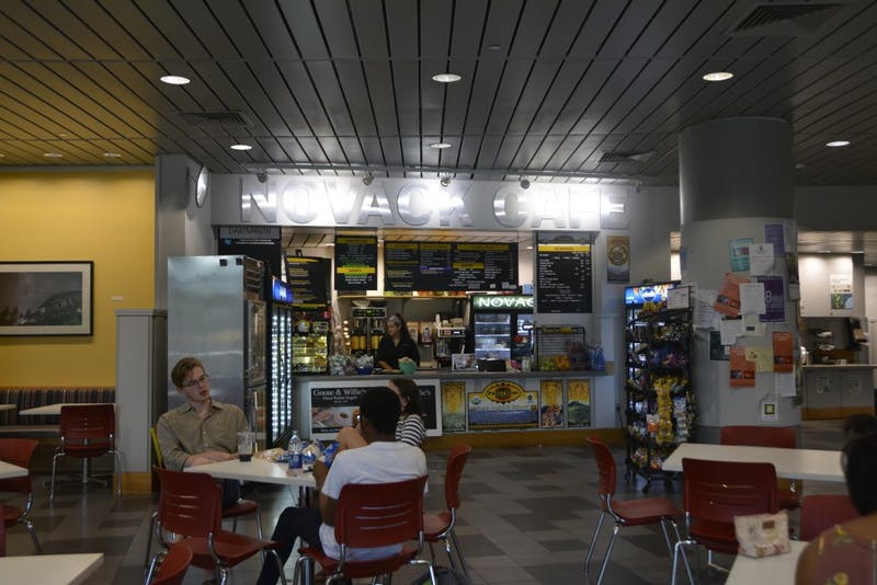 Novack Cafe has a variety of eating options for students who need to grab something between classes or on the go.