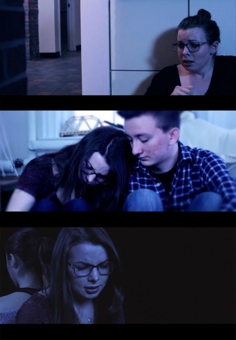 Claire Feuille '18, Dominic Giugliano '19 and Carina Conti '16 star in the film.