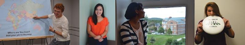 From left, meet Oliver Engelhart '18, Megan Batangan '18, Maya Moten '18 and Lily Eisner '18.