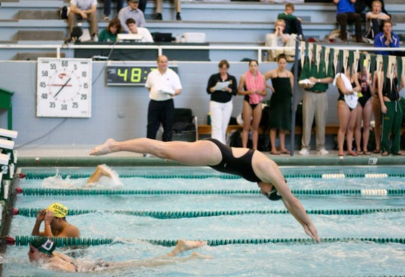 The Big Green women's swimming and diving team defeated Vermont 168-132 in Hanover this weekend.
