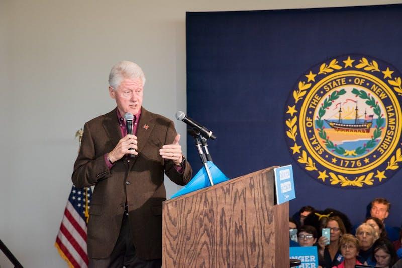 Former President Bill Clinton spoke Monday morning in Alumni Hall.