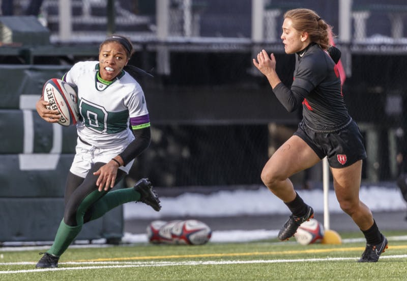 Ariana Ramsey scored two tries in the game, but the Big Green fell just short.