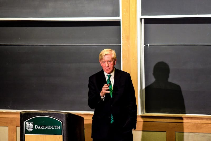 Weld spoke at an event on campus hosted by the College Republicans.