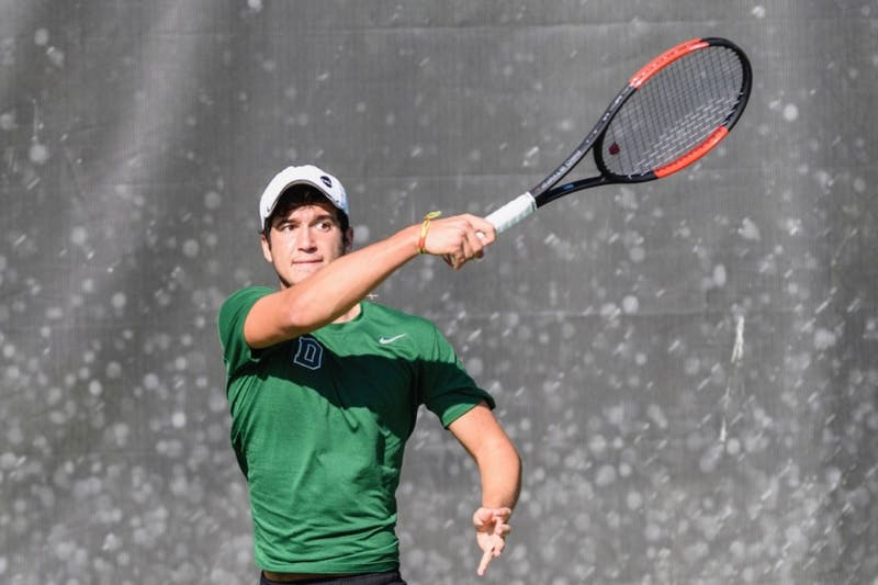 Dan Martin '21 from Laval, Québec is currently playing at No. 2 singles for the Big Green.