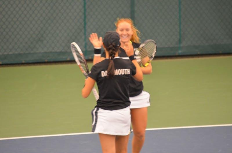 Taylor Ng '17 and Kristina Mathis '18 dominated this season.