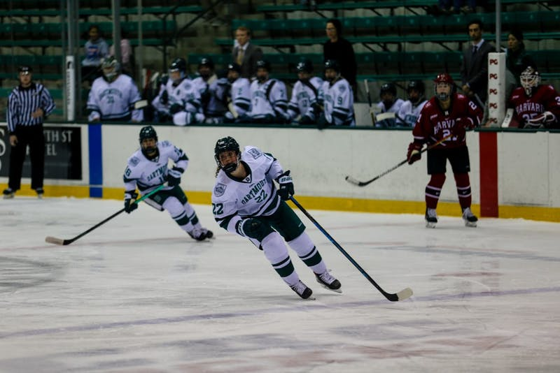 Women's hockey lost 7-4 to Harvard on Saturday but saw three goals from freshmen, including forward Catherine Trevors.