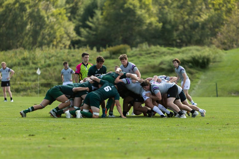 The women's rugby team won its third straight game on Sunday with a 34-21 win over the United States Military Academy.