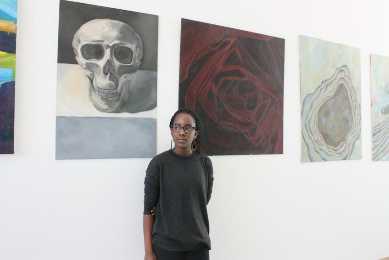 Amara Ihionu '17 is a studio art major who cites painting as her favorite medium.