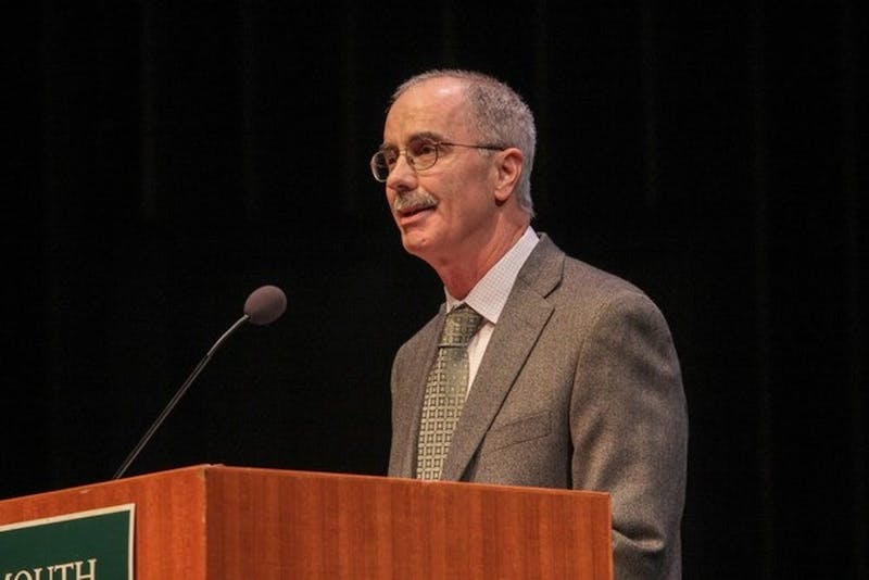 "Hanlon, pictured here in 2015, gave the annual ""State of the College"" speech on Monday."