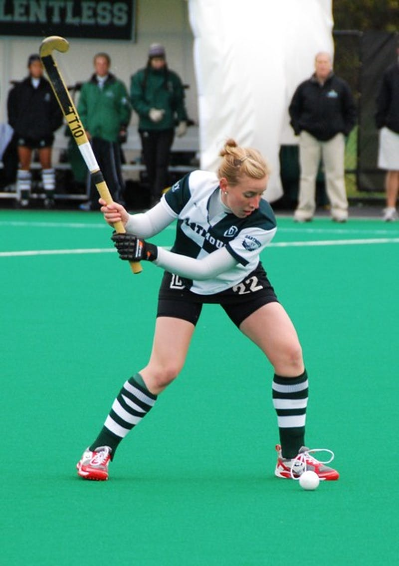Virginia Peisch '11 tied the Dartmouth record for assists in a single season, notching two on Saturday to bring her total to 14 as Dartmouth won 3-2.