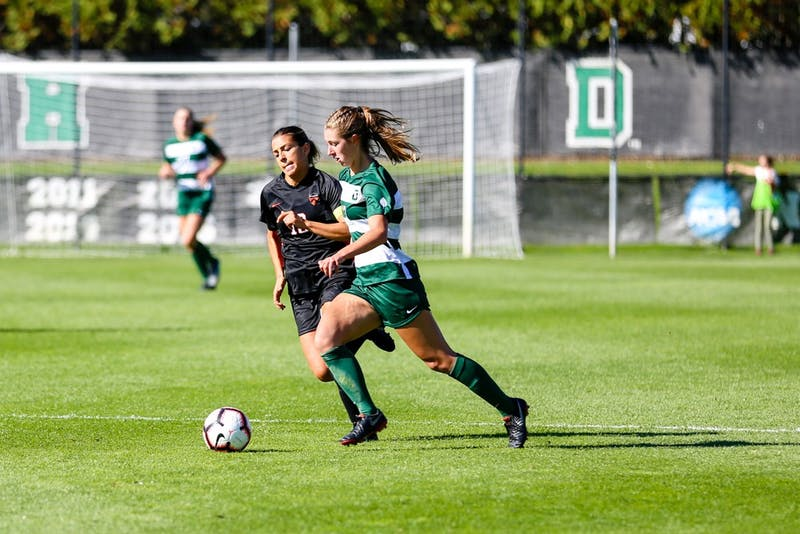 The Big Green followed a strong effort against Merrimack College with a loss to Yale on Saturday.
