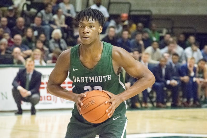 Chris Knight '21 scored 20 points with eight rebounds during the Big Green's 89-68 loss to Yale.