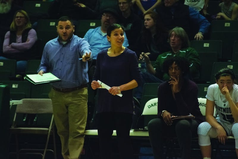 Women's basketball head coach Belle Koclanes has high academic expectations for students she recruits to Dartmouth.