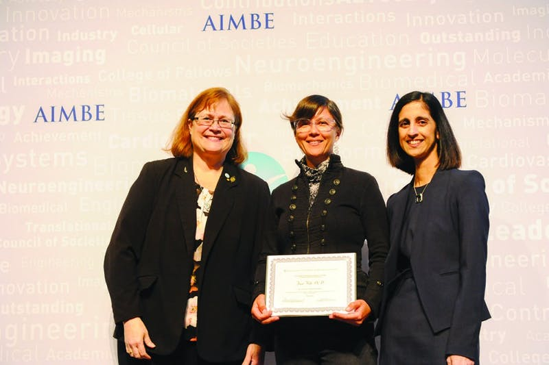 Jane Hill was inducted into the AIMBE College of Fellows on March 25. (Courtesy of Jane Hill)