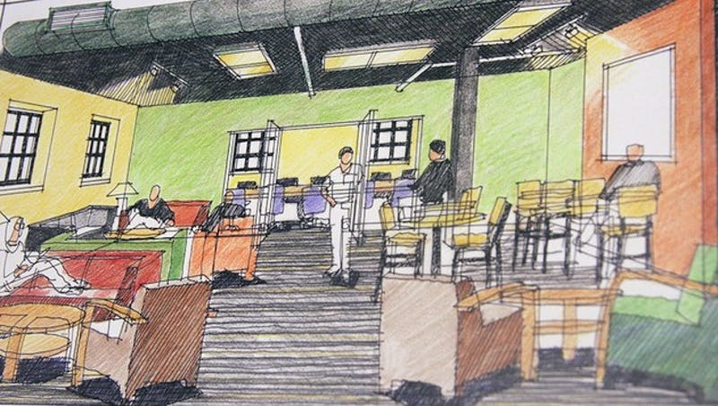 Although originally slated to open in January, new social spaces in the basement of Class of 1953 Commons will open for 2012 Fall term.