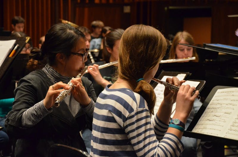 The Dartmouth College Wind Ensemble performed in the 2016 New Music Festival on Tuesday, May 3.