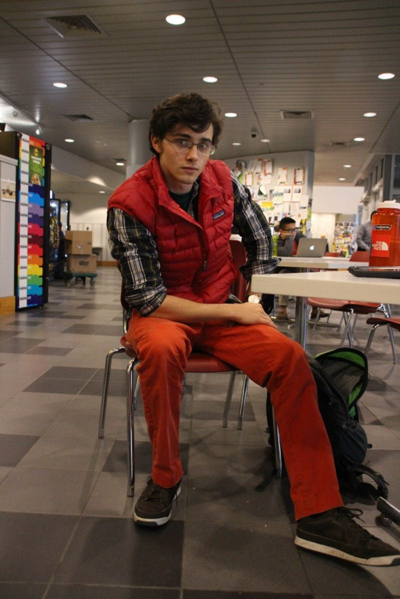 Mac Zech '18 has a individual style inspired by thrift shops.