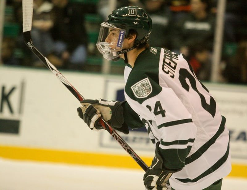 Big Green men's hockey played two conference games this weekend, falling to Yale 2-1 on Friday and defeating Brown 5-1 on Saturday.