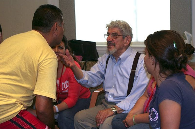 Teachers from Mexico visiting Hanover through the Inter-American Partnership for Education Teachers' Collaborative learned from professor John Rassias.