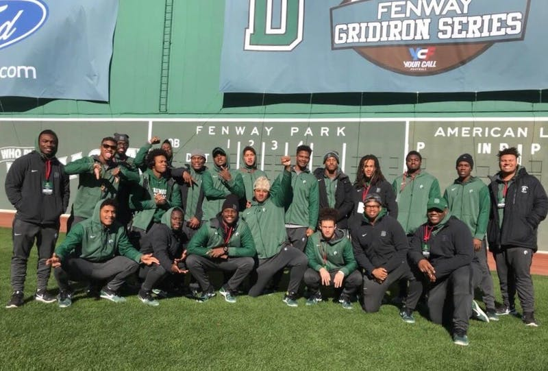 The football team will play its second game in an MLB stadium in three years after winning at Fenway Park in 2017.