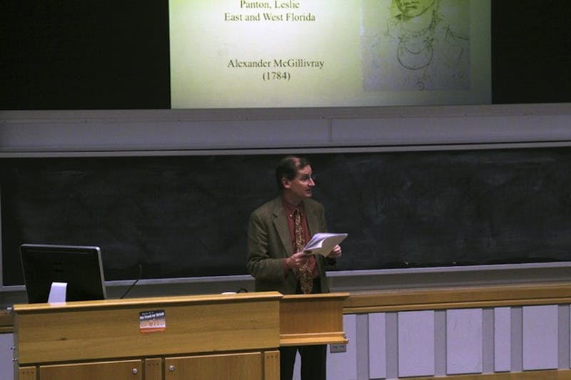 University of New Hampshire history professor Eliga Gould offered an alternative take on the American Revolution in a lecture Monday afternoon.