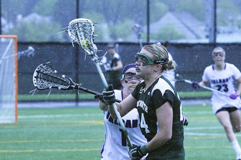 Women's lacrosse held off a second-half comeback by Brown University to secure the team's third conference victory of the season.