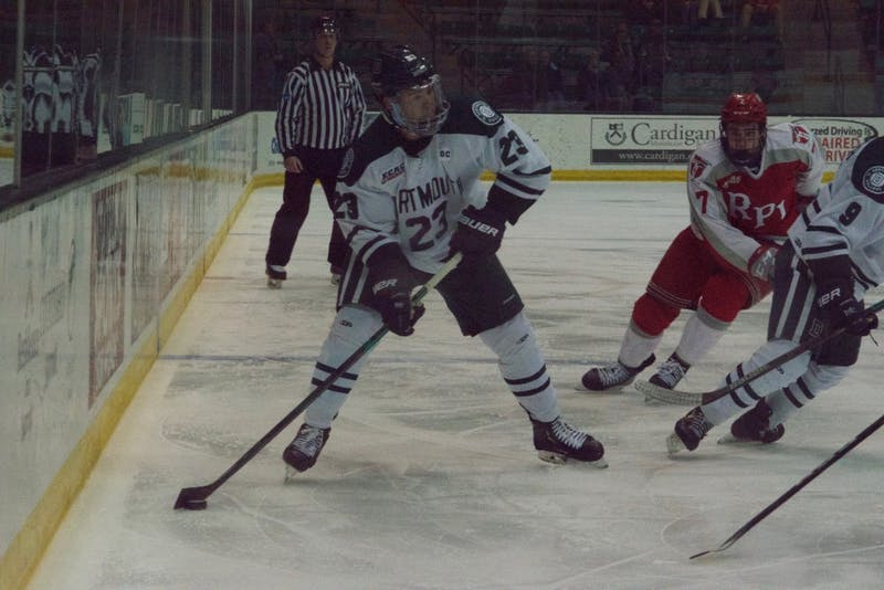 The Big Green defeated St. Lawrence University in the first round of the ECAC tournament but fell to Harvard in the quarterfinals.