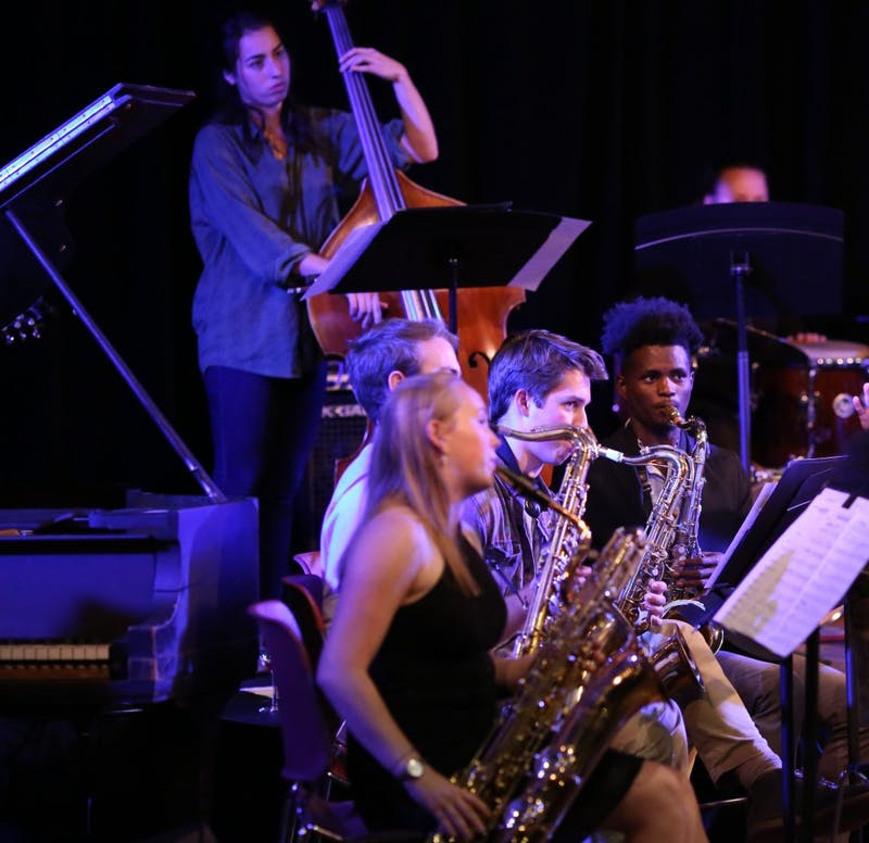 Collis Cabaret with Del Sol Quartet and Barbary Coast Ensemble in Hanover, NH on Thursday, October 12, 2017.Copyright 2017 Rob Strong
