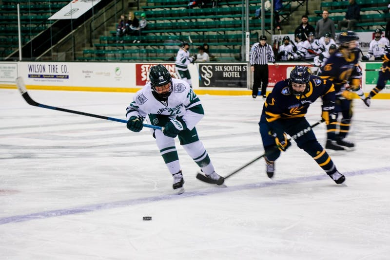 The women's hockey team dropped games against Princeton and Quinnipiac this weekend.