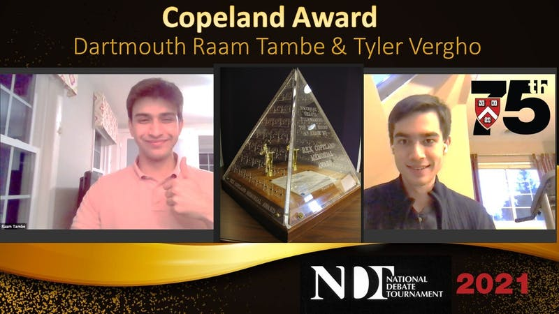 Tambe and Vergho are the College's first Rex Copeland recipients since 2002.