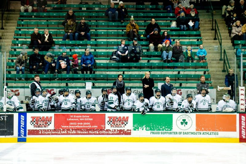 The women's hockey team scored a major upset on Friday, defeating defending-national champion Clarkson in OT.