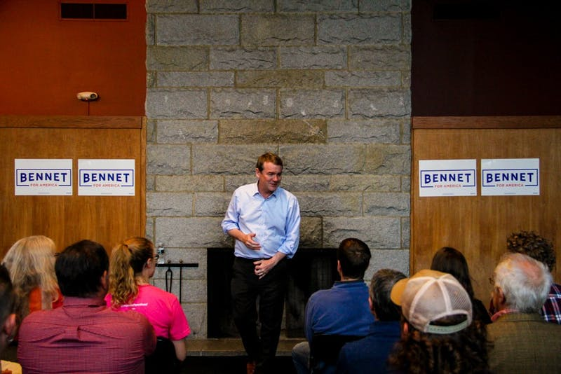 Bennet spoke to an audience of around 70 students and community members at the Hop.