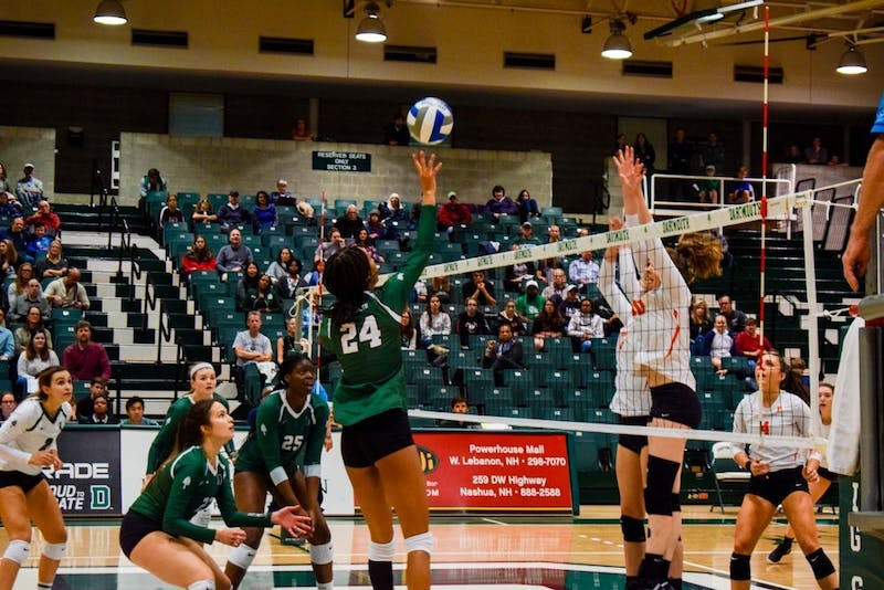 The women's volleyball team has adapted to the virtual recruitment process by creating a presentation featuring a virtual campus tour and an introduction to Dartmouth Peak Performance.