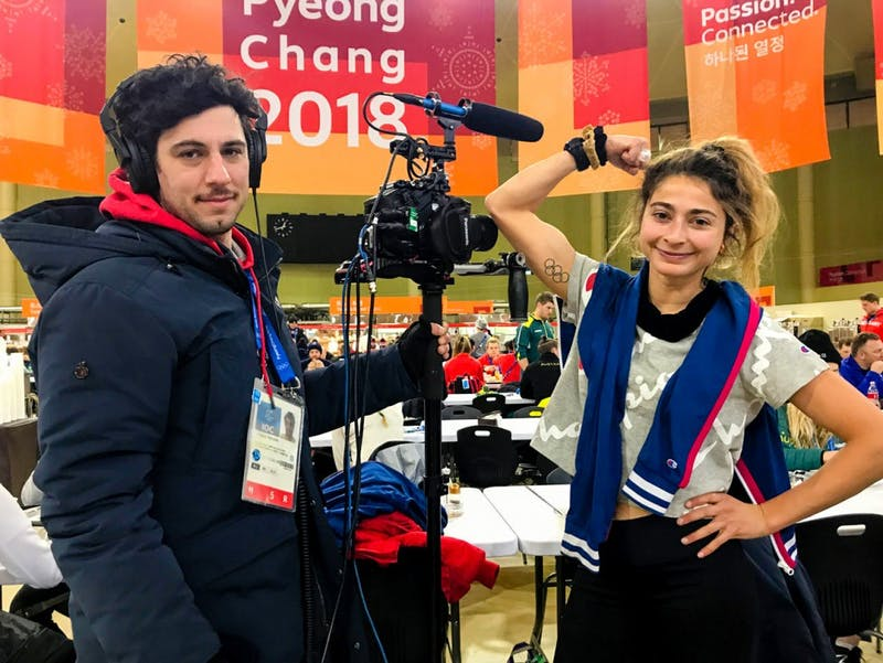 """Pappas and Teicher, who will be married next month, previously collaborated on the 2016 film """"Tracktown."""""""