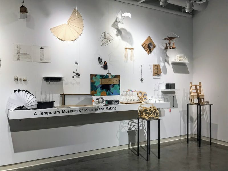 """A Temporary Museum of Ideas in the Making"" features innovative student work from architecture courses in the studio art department."