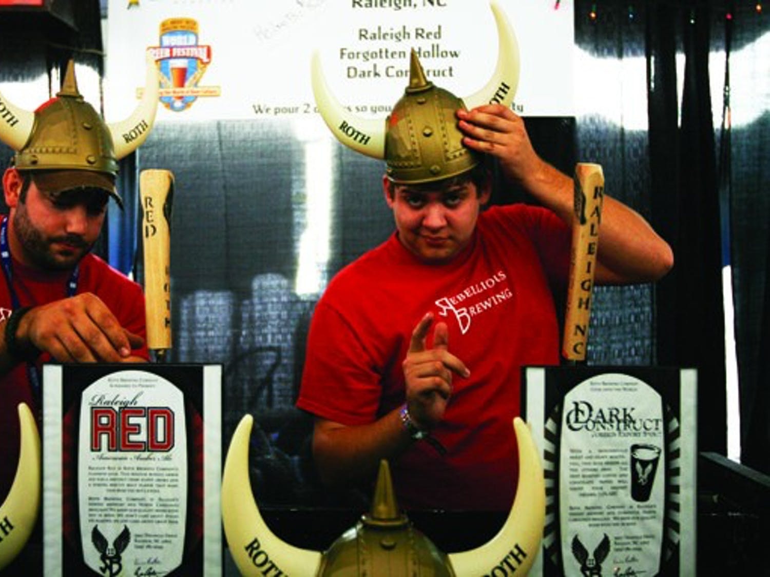 Roth Brewing operates a booth at the 16th annual World Beer Fest, held Saturday at Durham Bulls Athletic Park. More than 100 breweries from around the world participated.