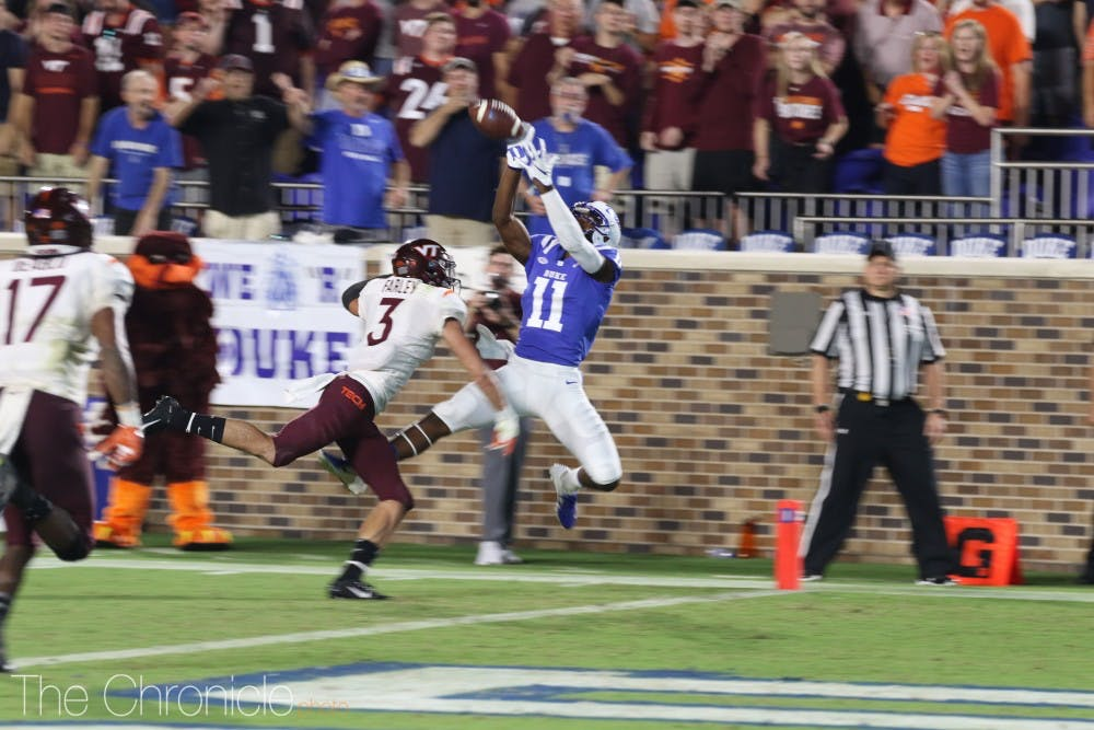 <p>The Blue Devils could not match Virginia Tech's playmaking Saturday.</p>