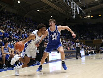 Wendell Moore Jr. (left) brings talent and experience to the Blue Devils in his third season.