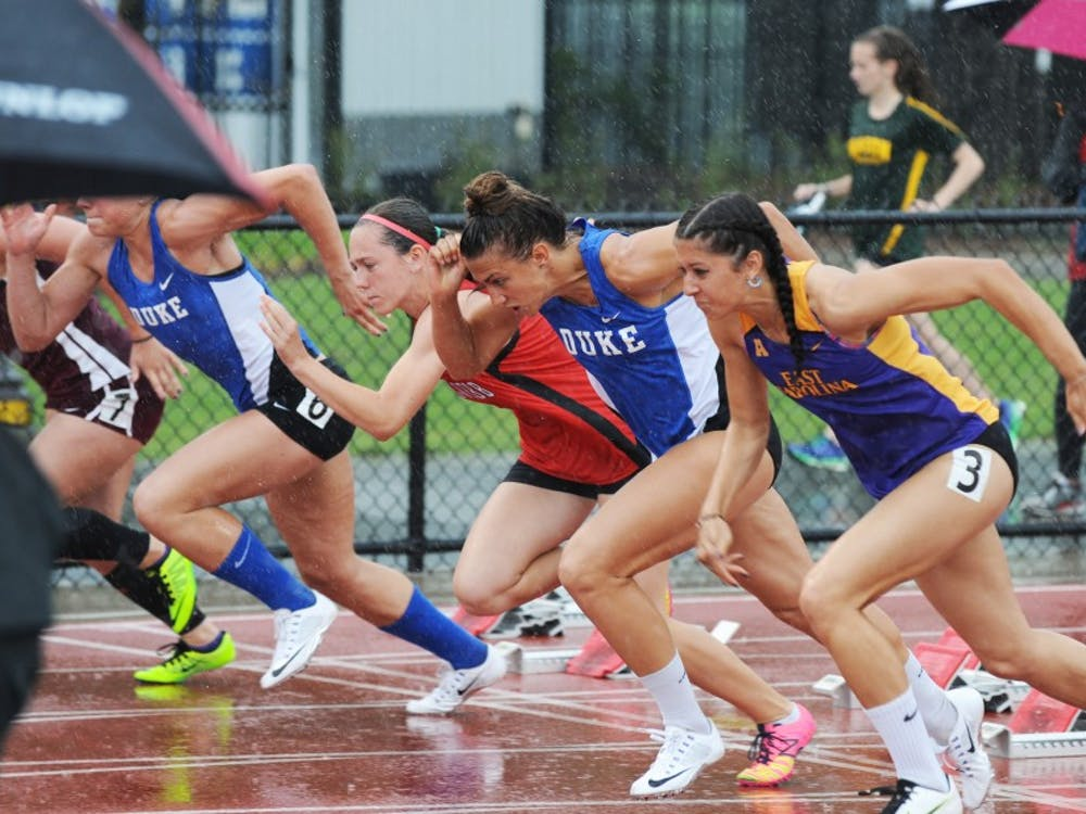 The Duke Invitational was disrupted by hour-long rain delays both Friday and Saturday, but the inclement weather did not stop the Blue Devils from setting a few more program records.