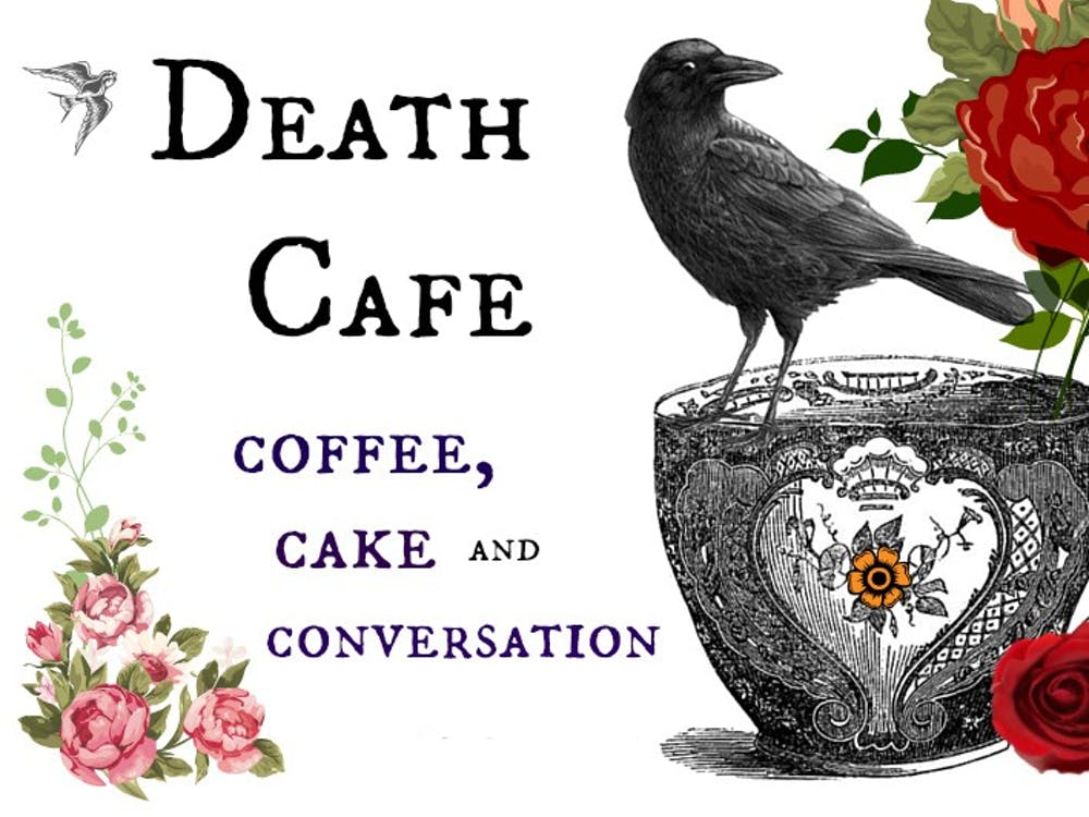 "<p>Death Café is a place to ""gather to eat cake, drink tea and discuss death.""</p>"